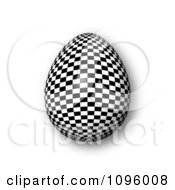 Clipart 3d Checkered Easter Egg And Shadow Royalty Free CGI Illustration