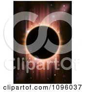 Clipart Total Eclipse With Red Light On Black Royalty Free Vector Illustration