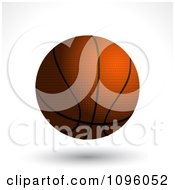 Clipart 3d Floating Basketball With Black Lines And A Shadow Royalty Free Vector Illustration by elaineitalia