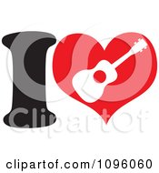 Clipart I Heart Ukulele Royalty Free Vector Illustration by Maria Bell