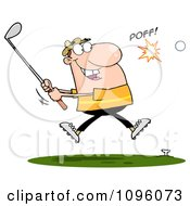 Clipart Caucasian Man Hitting A Golf Ball Royalty Free Vector Illustration by Hit Toon