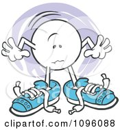 Clipart Moodie Character With Big Shoes To Fill Royalty Free Vector Illustration