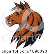 Clipart Brown Stallion Head Royalty Free Vector Illustration