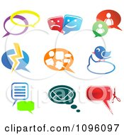 Clipart Instant Messenger And Social Network Chat Icons Royalty Free Vector Illustration by Vector Tradition SM