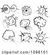 Clipart Comic Poofs 3 Royalty Free Vector Illustration