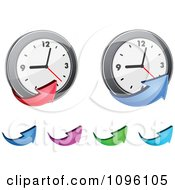Clipart Arrows And Clocks Royalty Free Vector Illustration