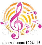 Clipart Music Notes And Clef Royalty Free Vector Illustration