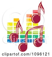 Clipart Music Notes And Colorful Equalizer Royalty Free Vector Illustration
