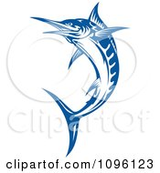 Clipart Blue Leaping Billfish Royalty Free Vector Illustration