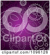 Clipart Purple Steampunk Gear Cog Wheel Background Royalty Free Vector Illustration