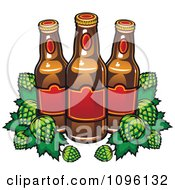 Clipart Brewery Beer Bottles And Hops Royalty Free Vector Illustration by Vector Tradition SM