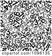 Clipart Black And White Numbers Background Royalty Free Vector Illustration