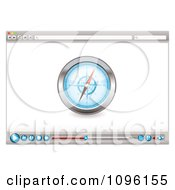 Internet Web Browser With A Compass And Media Icons
