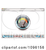 Clipart Web Browser With An Internet Speed Tester And Media Icons Royalty Free Vector Illustration