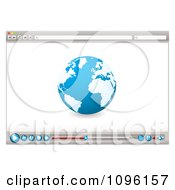 Clipart Internet Web Browser With A Globe And Media Icons Royalty Free Vector Illustration