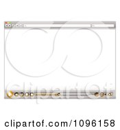 Clipart Blank Internet Web Browser With Media Icon Royalty Free Vector Illustration by michaeltravers