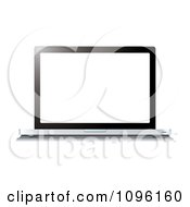 Clipart Blank White Screen On A 3d Laptop Computer Royalty Free Vector Illustration by michaeltravers