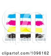 Clipart CMYK Printer Ink Panels Royalty Free Vector Illustration by michaeltravers
