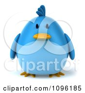 Clipart 3d Chubby Blue Bird Royalty Free CGI Illustration