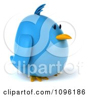 Clipart 3d Chubby Blue Bird Facing Right Royalty Free CGI Illustration