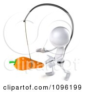 Clipart 3d White Bob Chasing A Carrot 3 Royalty Free CGI Illustration by Julos