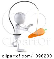 Clipart 3d White Bob Chasing A Carrot 2 Royalty Free CGI Illustration
