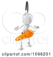 Clipart 3d White Bob Chasing A Carrot 1 Royalty Free CGI Illustration