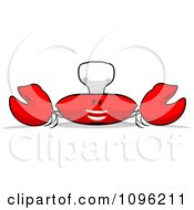 Clipart Cartoon Happy Chef Crab 1 Royalty Free Illustration