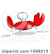 Clipart Cartoon Happy Chef Crab 3 Royalty Free Illustration