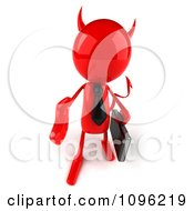 Poster, Art Print Of 3d Red Bob Devil Businessman Holding His Hand Out To Shake