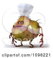 Clipart 3d Chef Monster Germ Facing Left Royalty Free CGI Illustration by Julos