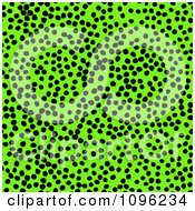 Clipart Background Pattern Of Cheetah Spots On Neon Green Royalty Free Illustration by KJ Pargeter