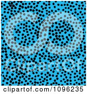 Clipart Background Pattern Of Cheetah Spots On Neon Blue Royalty Free Illustration by KJ Pargeter