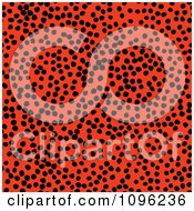 Clipart Background Pattern Of Cheetah Spots On Neon Orange Royalty Free Illustration