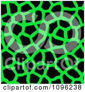 Clipart Background Pattern Of Giraffe Markings On Neon Green Royalty Free Illustration