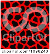Clipart Background Pattern Of Giraffe Markings On Neon Red Royalty Free Illustration