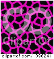 Clipart Background Pattern Of Giraffe Markings On Neon Pink Royalty Free Illustration