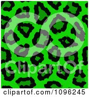 Clipart Background Pattern Of Neon Green Leopard Print Royalty Free Illustration