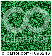 Clipart Background Pattern Of Neon Green Leopard Spots Royalty Free Illustration