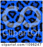 Clipart Background Pattern Of Neon Blue Leopard Print Royalty Free Illustration