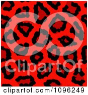 Clipart Background Pattern Of Neon Red Leopard Print Royalty Free Illustration