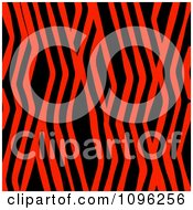 Clipart Background Pattern Of Zig Zag Zebra Stripes On Neon Red Royalty Free Illustration by KJ Pargeter