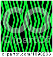 Clipart Background Pattern Of Zig Zag Zebra Stripes On Neon Green Royalty Free Illustration by KJ Pargeter