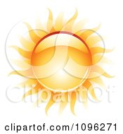 Clipart 3d Shiny Summer Sun And Heat Waves Royalty Free Vector Illustration