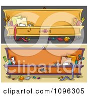 Clipart Arts And Crafts Chest Website Banners Royalty Free Vector Illustration
