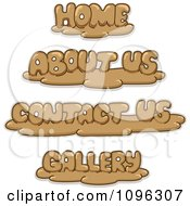 Clipart Clay Home About Us Contact Us And Gallery Website Icons Royalty Free Vector Illustration