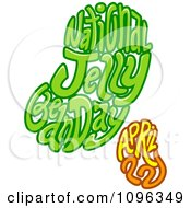 Clipart National Jelly Bean Day April Text In The Shape Of Beans Royalty Free Vector Illustration by BNP Design Studio
