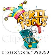 Clipart April Fools Jack In The Box Royalty Free Vector Illustration