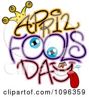 Clipart Eyes And April Fools Day Text Royalty Free Vector Illustration