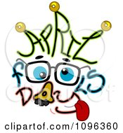 Clipart Groucho Costume And April Fools Day Text Royalty Free Vector Illustration